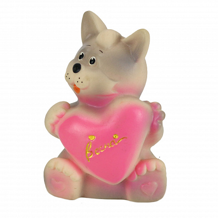 Игрушка Котик с сердечком. Весна*